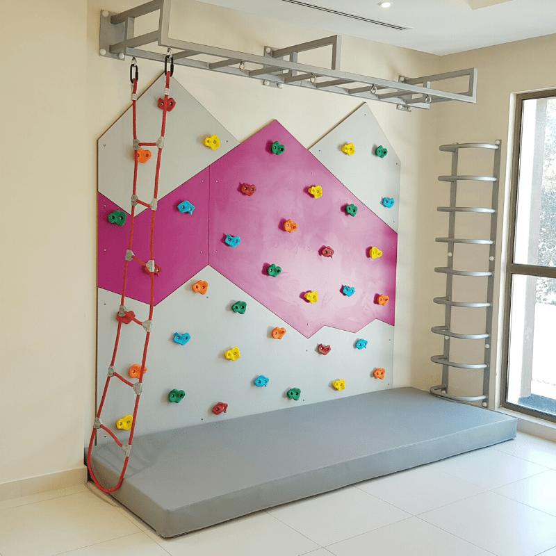 Climbing Wall with Monkey Bars, Climbing Ladder & Roper Ladder