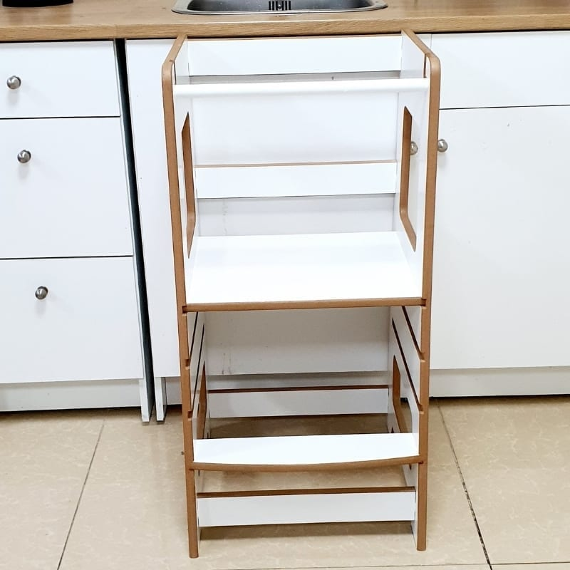 Adjustable Learning Tower in White